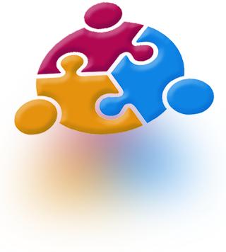 3 Interlocked Jigsaw pieces